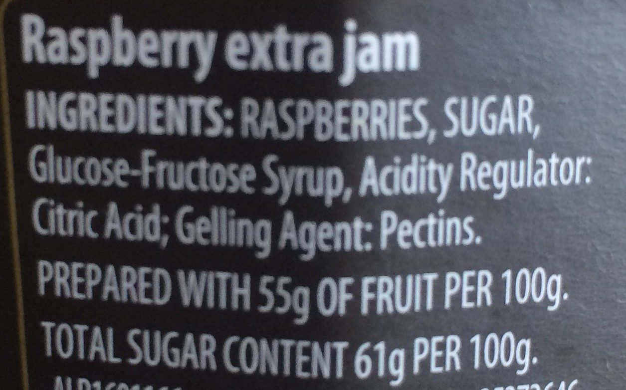 Raspberry conserve - Ingrédients