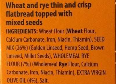 Thins multi-seed - Ingrédients