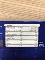 Milk chocolate - Voedingswaarden - en