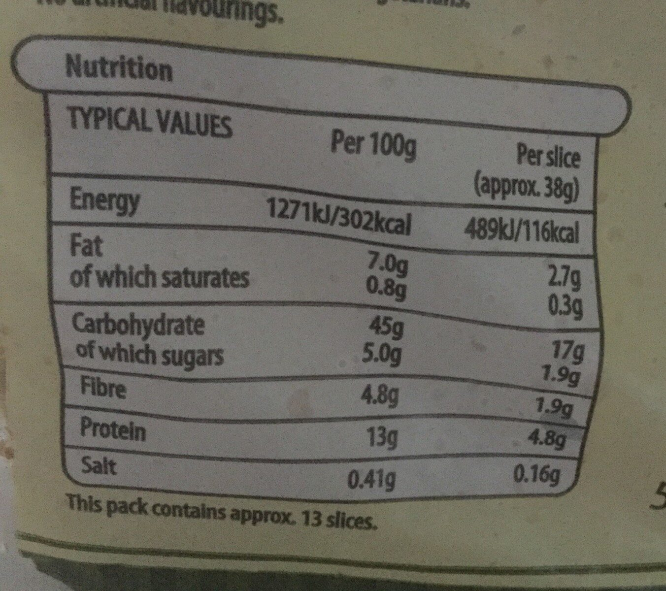 5 Grain - Nutrition facts - en