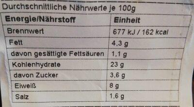 Futo Lachs Thunfisch - Informations nutritionnelles - de