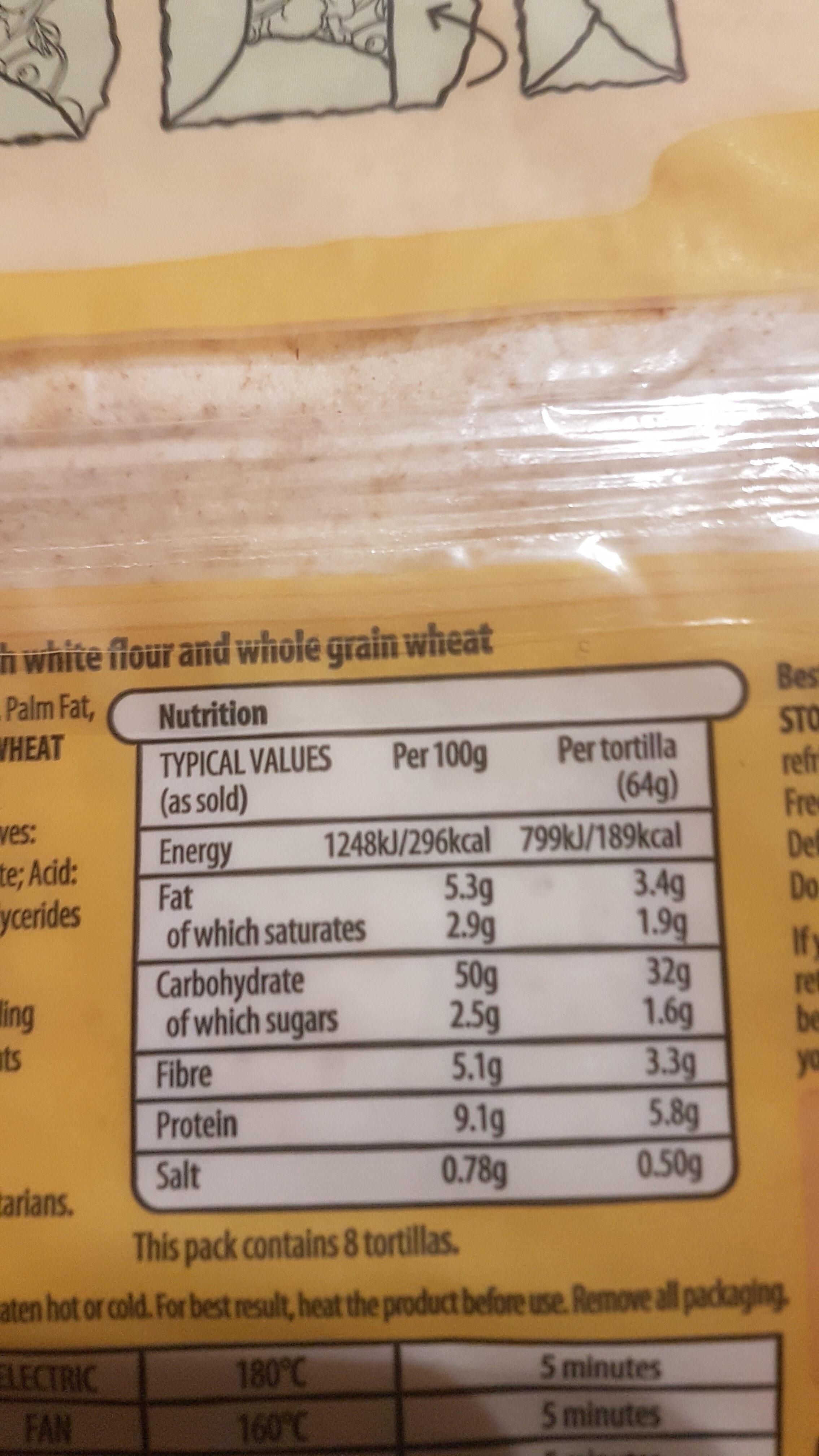 Super Soft Both in One Wraps - Informations nutritionnelles - en