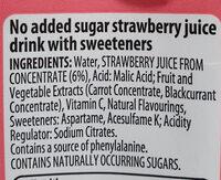 strawberry juice - Ingredients - en