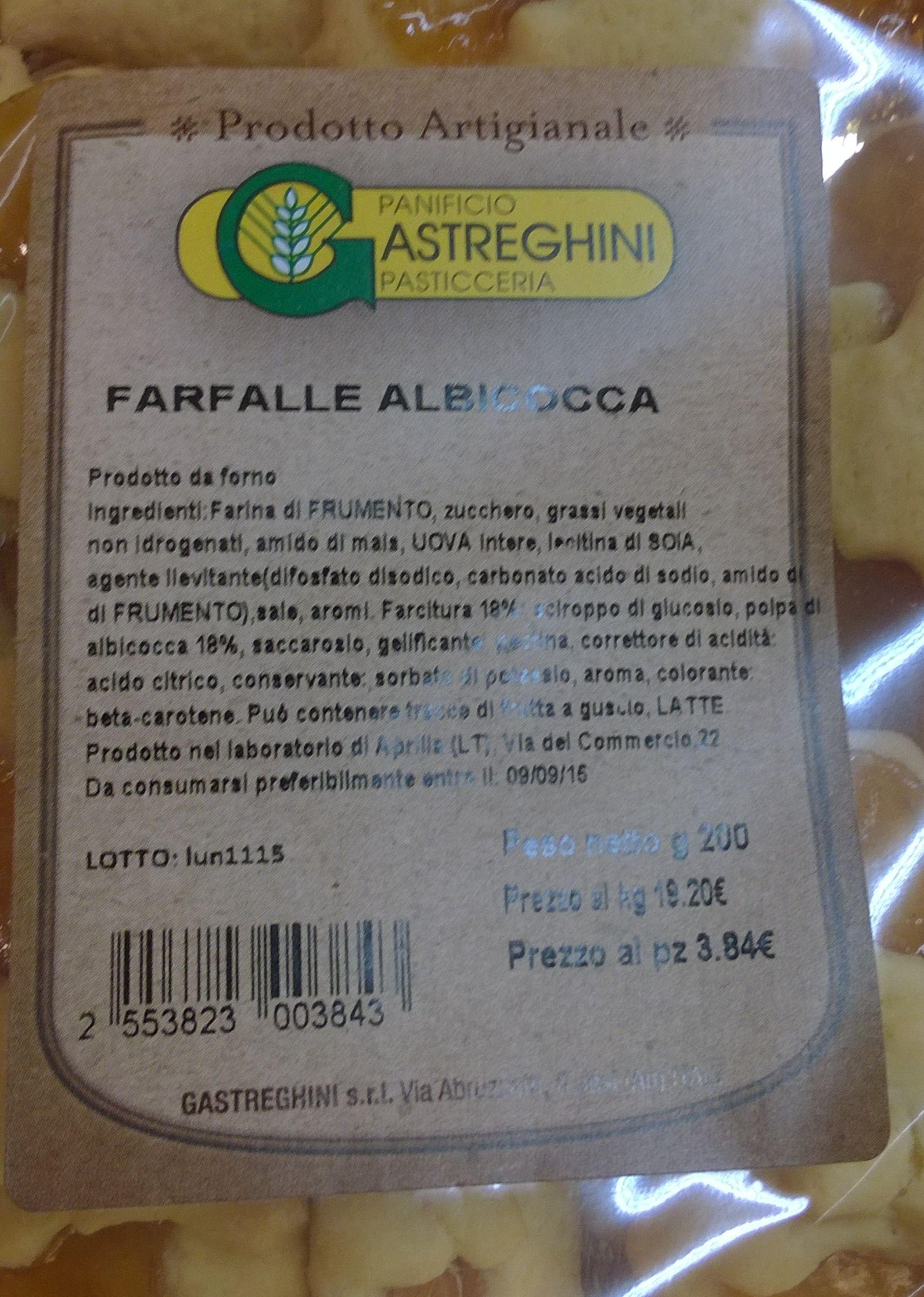 FARFALLE ALBICOCCA PRODOTTO DA FORNO - Produit