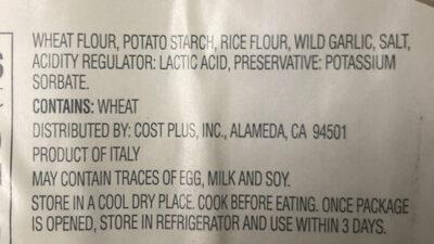 Gnocchi wild garlic - Ingredients - en