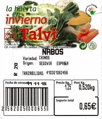 Nabos blancos - Ingredientes