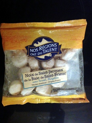 Noix de Saint-Jacques de la Baie de Saint-Brieuc, sans corail, Surgelées - Product - fr