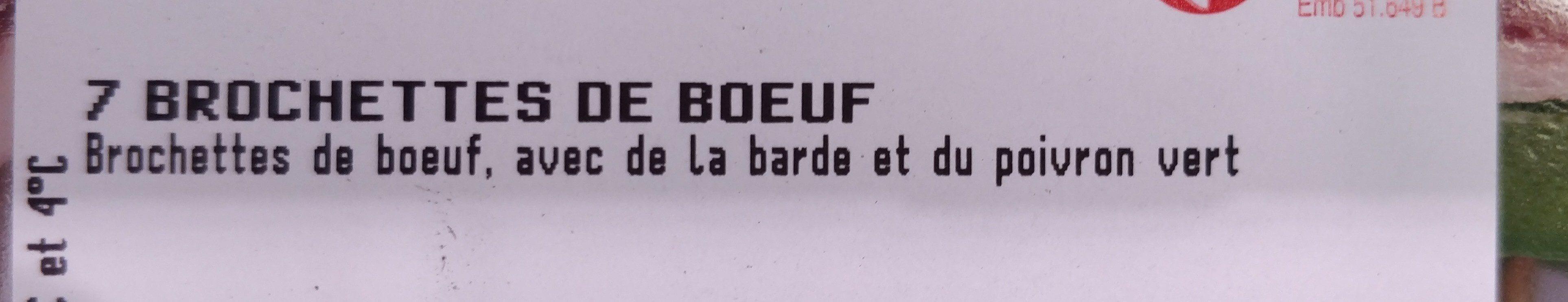 7 brochettes de bœuf - Ingrédients - fr