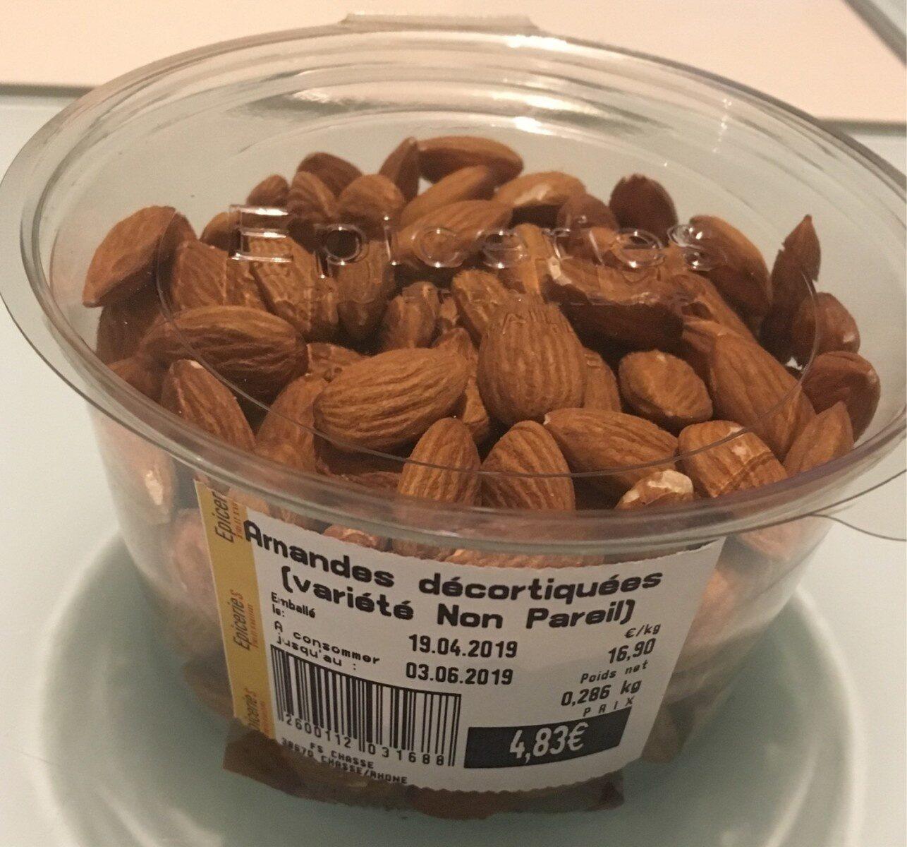 Amandes décortiquées (variété non pareil) - Produit
