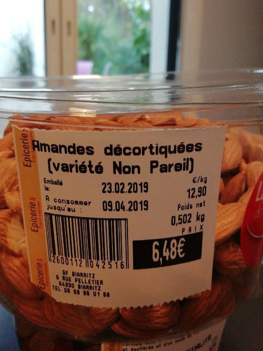 Amandes decortiquees - Produit - fr