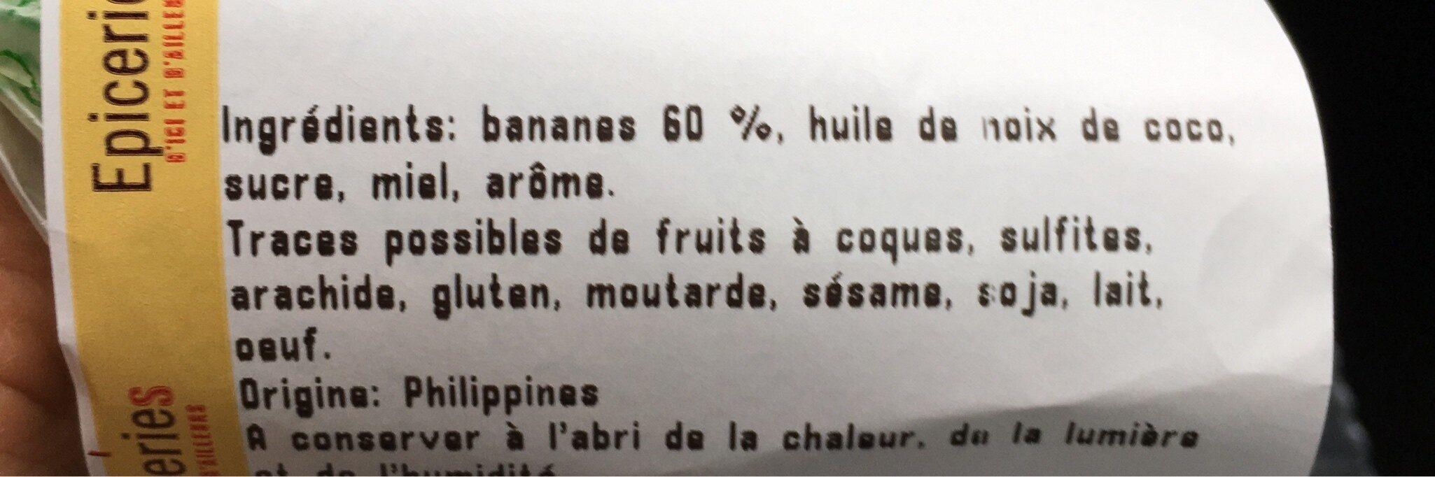 Banane chips - Ingredients