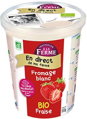 Fromage frais à la Fraise - Produit - fr