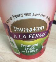 Fromage frait à la fraise - Produit