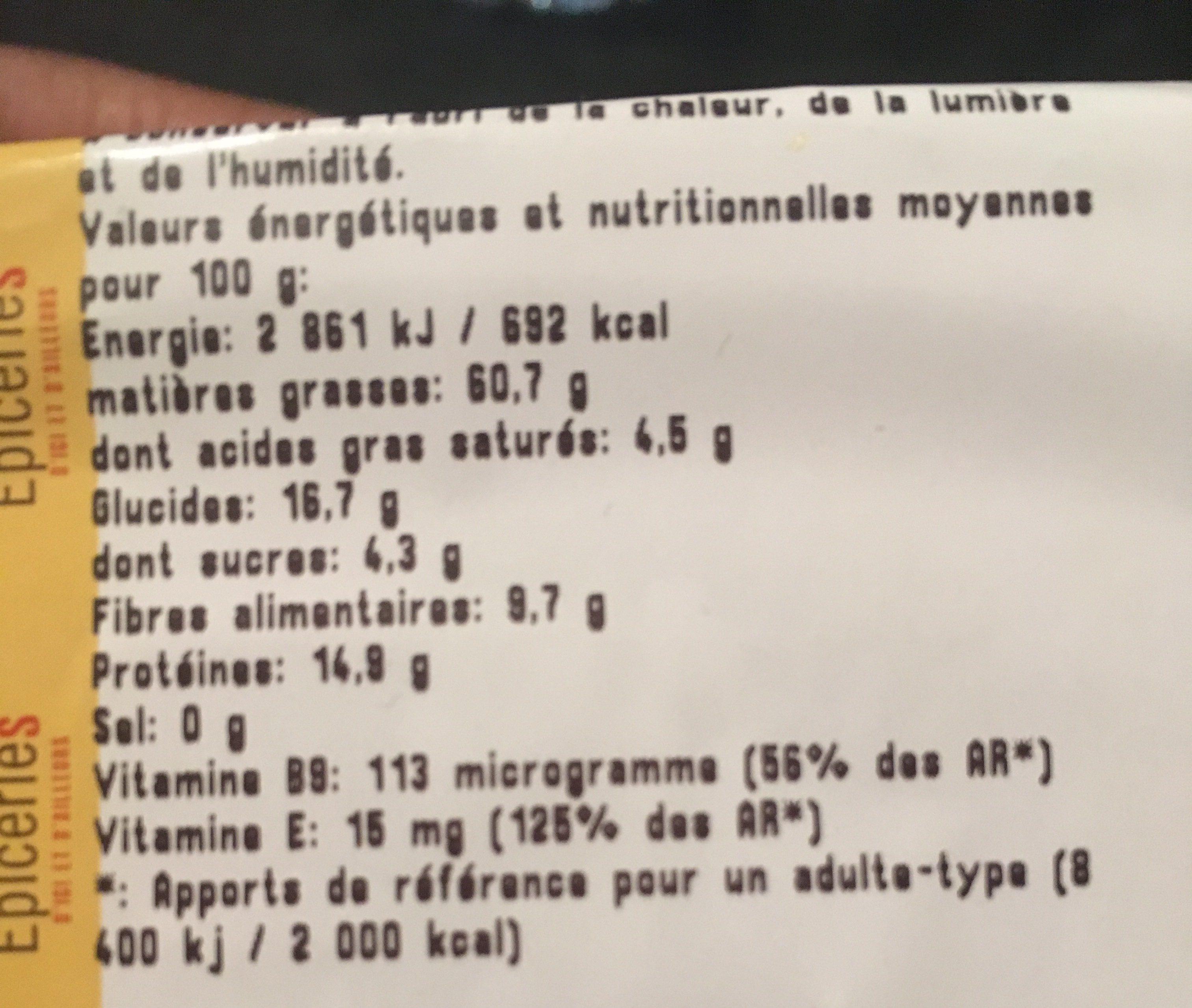 Noisette decortiquées - Ingrediënten - fr