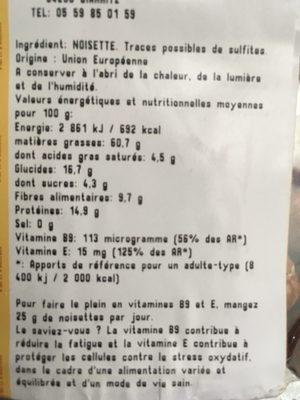 Noisette decortiquee - Ingrediënten - fr