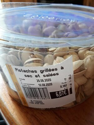 Pistaches grillées à sec et salees - Produit - fr