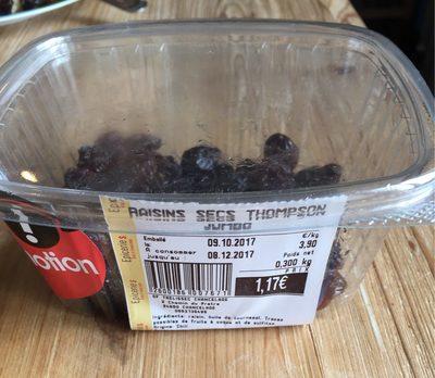 Raisins secs Thompson Jumbo - Product - fr
