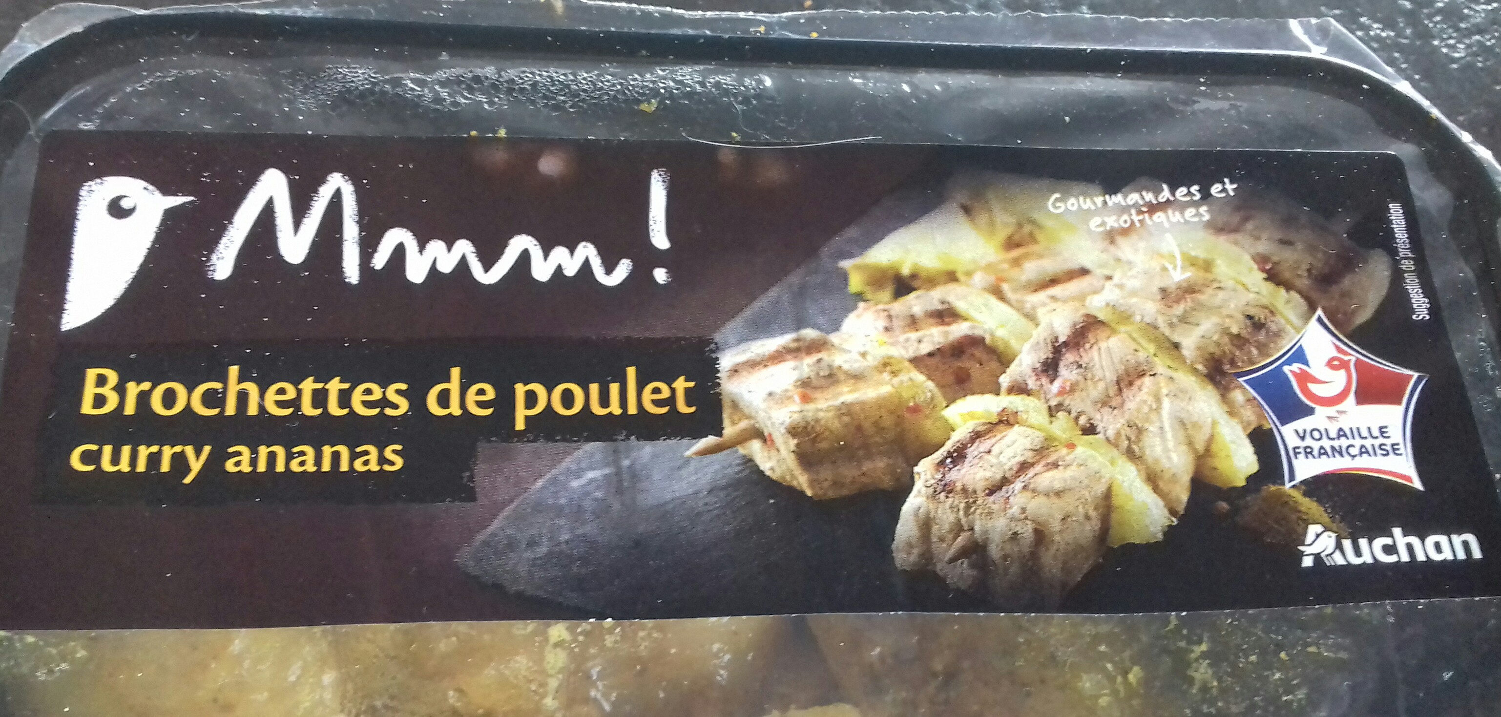 brochettes de poulet curry ananas - Product - fr