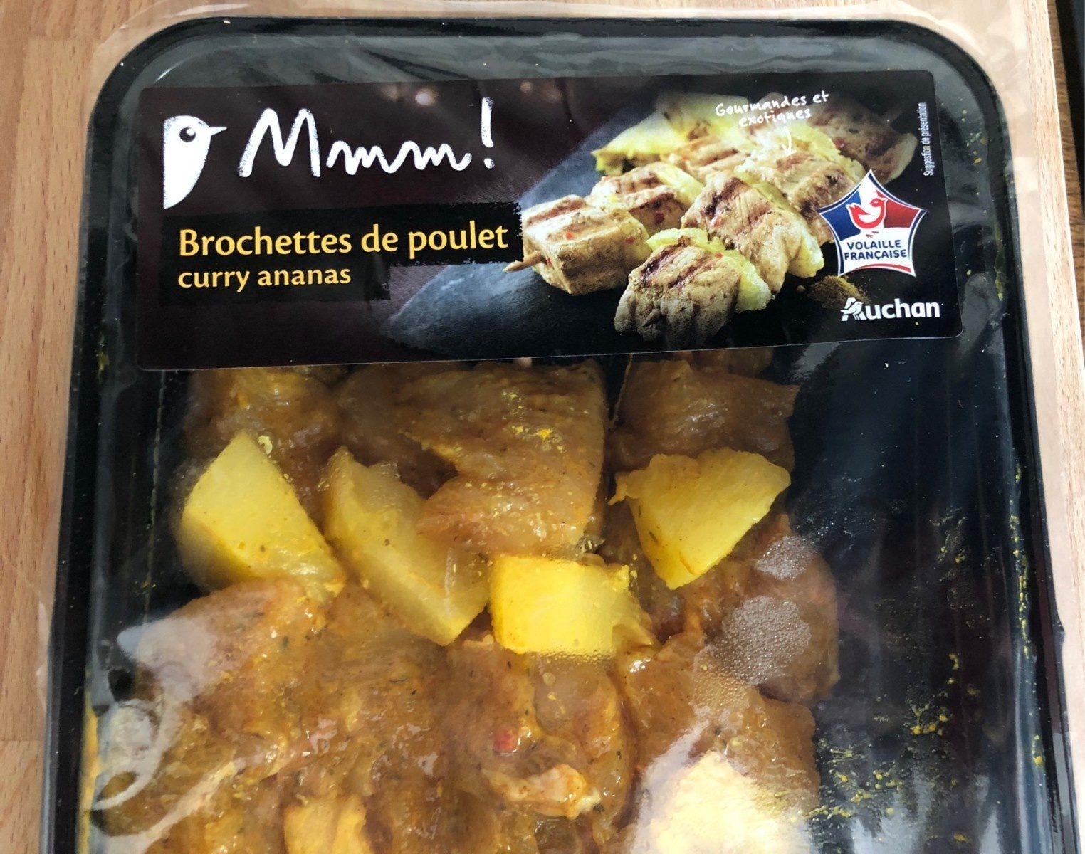 Brochettes de poulet curry ananas - Produit - fr