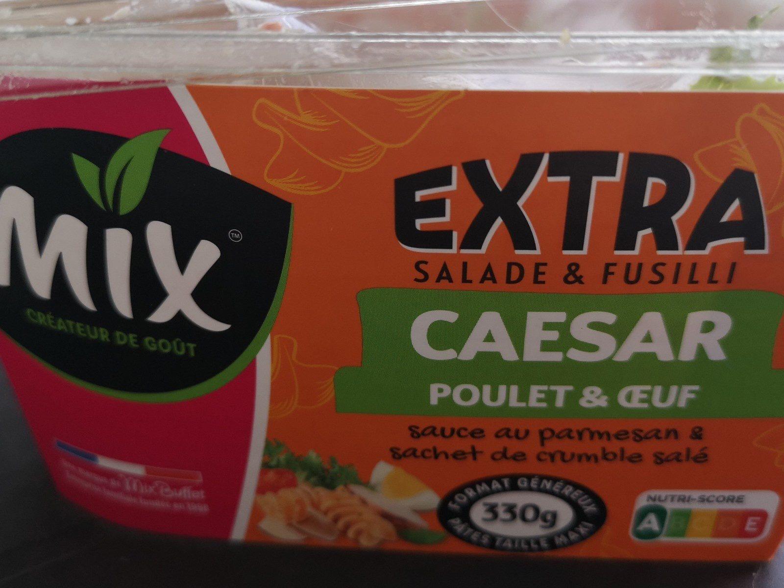 EXTRA Salade & Fusilli Caesar Poulet et Oeuf, 330g - Ingredients - fr