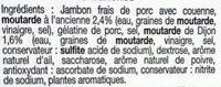 Jambon moutarde - Ingrediënten