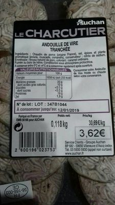 Andouille de Vire tranchée - Product - fr