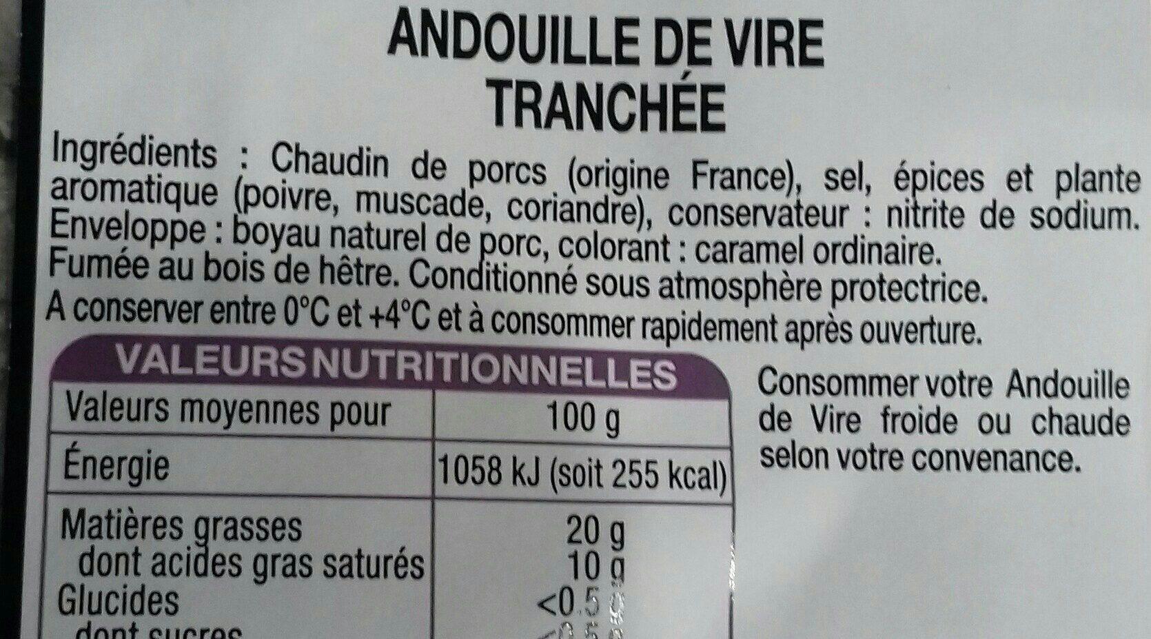 Andouille de Vire tranchée - Ingredients - fr