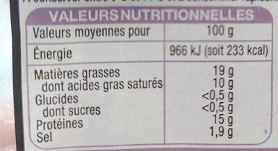 Véritable andouille de Guéméné tranchée - Nutrition facts - fr
