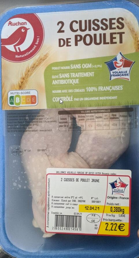 2 Cuisses de poulet - Product - fr