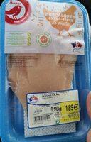 2 escalope extra fine de poulet - Product - fr