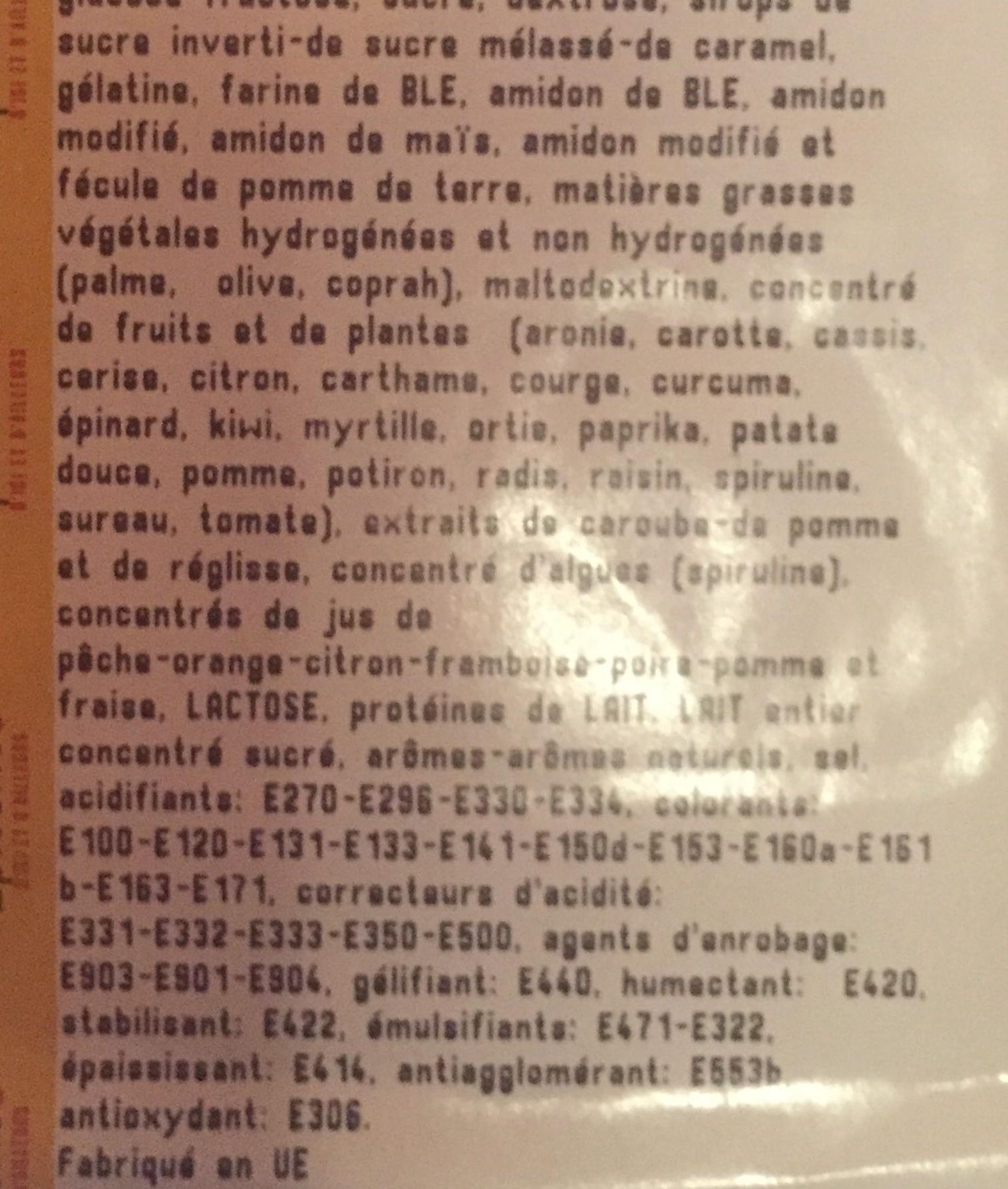 Confiserie - Ingredients