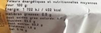 Confiserie Sans Marque 188 G - Nutrition facts