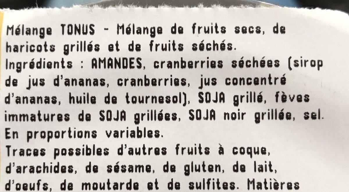 Melange tonus - Ingrédients - fr