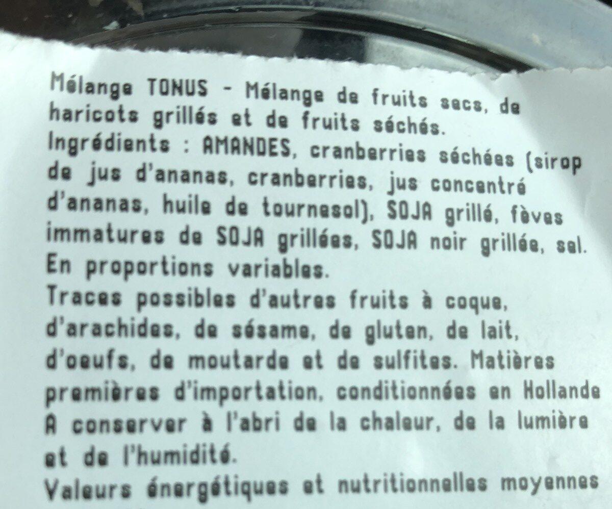 Mélange tonus - Ingrédients - fr