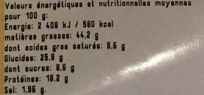 Noix de Cajou Grillées Aromatisées au Curry - Nutrition facts - fr