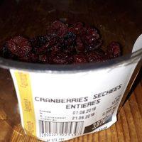 Cranberries séchées entières - Product