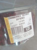 cramberries séchées entières - Product