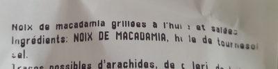 Noix macadamia grillée salée vrac - Ingredients - fr