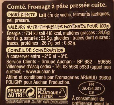 Mmm! Comté 12 Mois d'affinage minimum - Ingrédients - fr