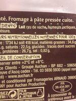Comté 12 mois d'affinage - Ingrédients - fr