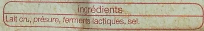 Comté AOP (32 % MG) Au Lait Cru d'Hiver - Ingrédients - fr