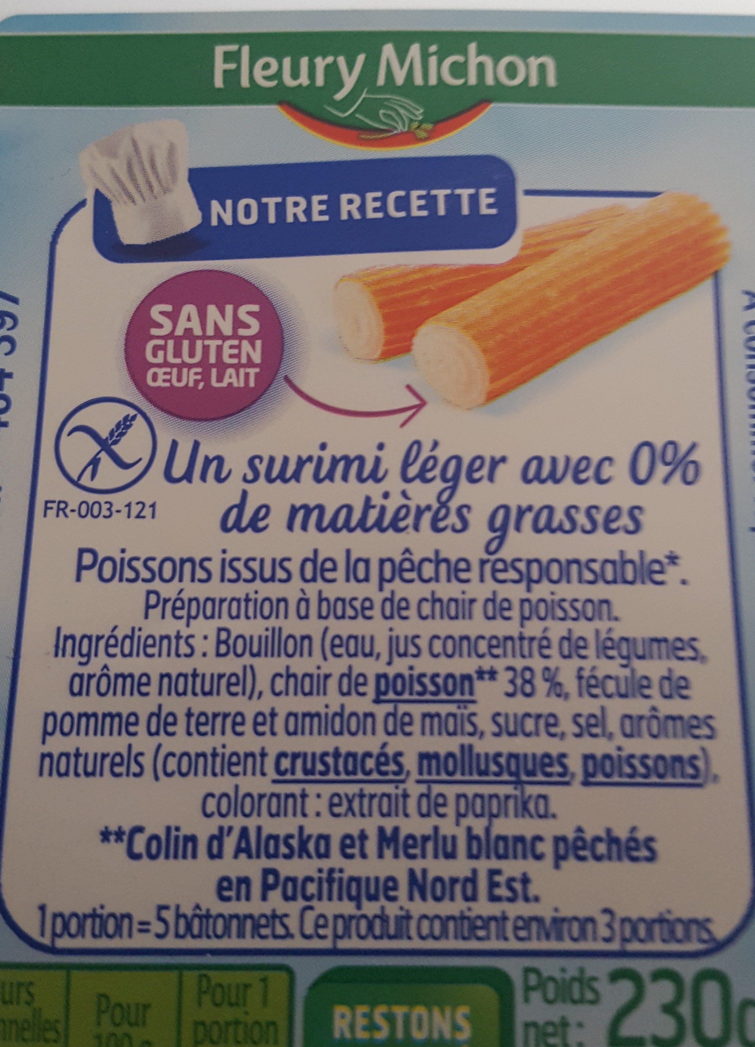 Surimi léger 0% - Ingrédients
