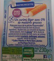 Surimi léger 0% - Informations nutritionnelles
