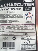 Jambon superieur - Ingrédients