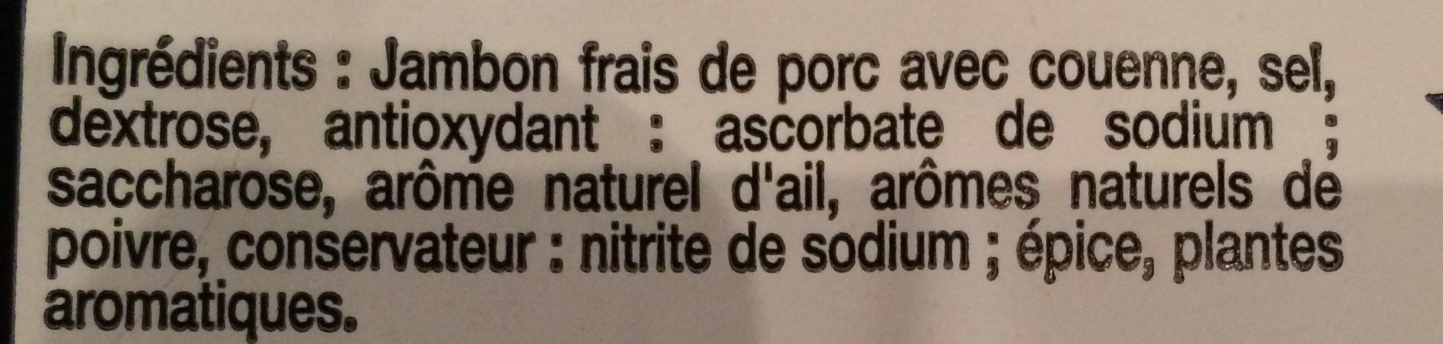 Jambon Superieur - Ingrediënten - fr