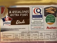 2 escalopes extra fines - Ingrédients