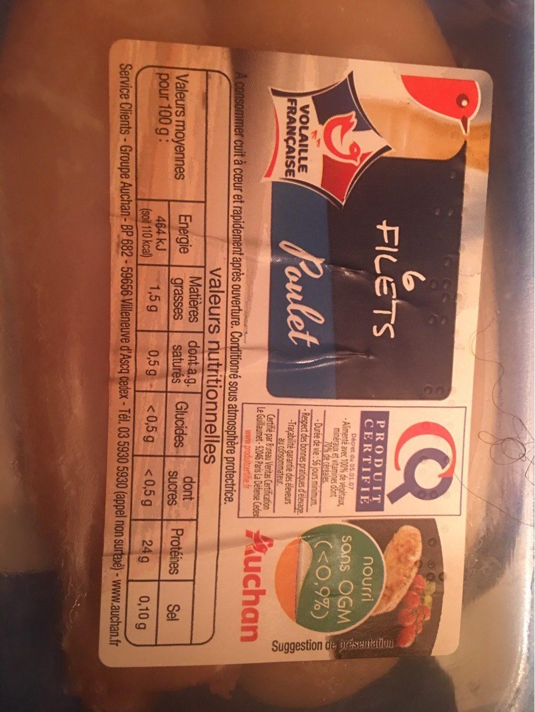 6 filets Poulet - Produit