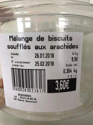 Mélange de biscuits soufflés aux arachides - Produit - fr