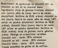 Guimauves au chocolat noir - Ingrédients - fr