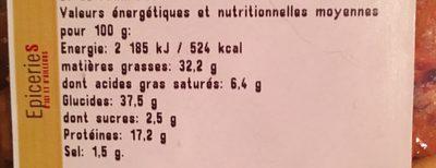 Mélange mexicain - Informations nutritionnelles